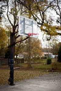 basketball hoop at pwm campus