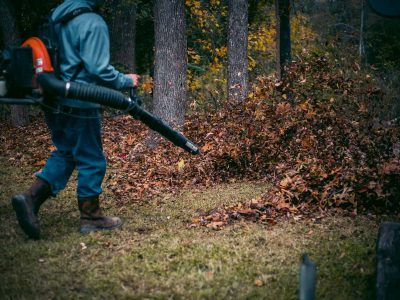 blowing leaves at pwm campus
