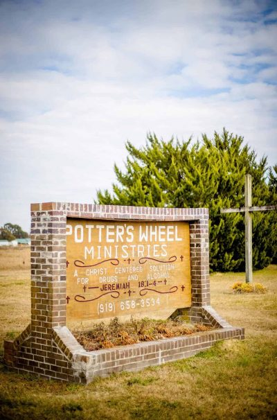 potters wheel ministry sign